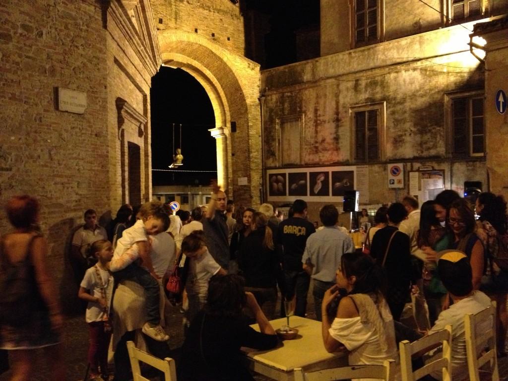 """Penne's wall durante la """"Notte in bianco"""""""