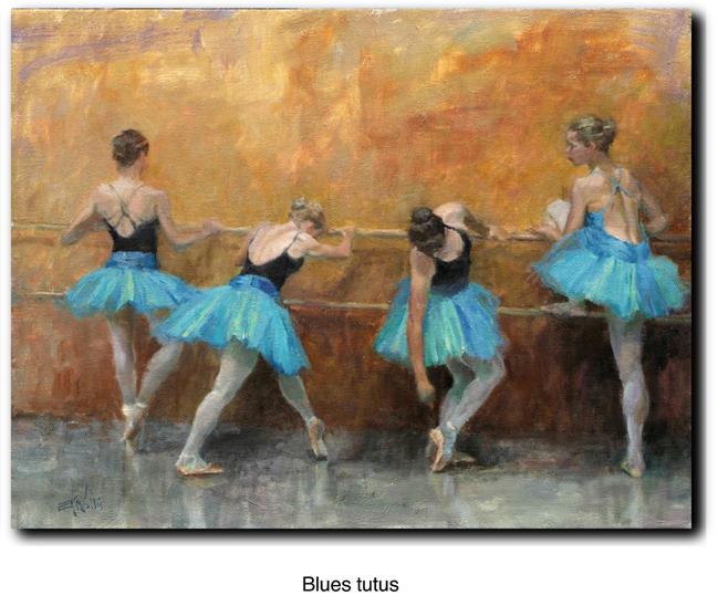 Blues tutus by Eric Wallis