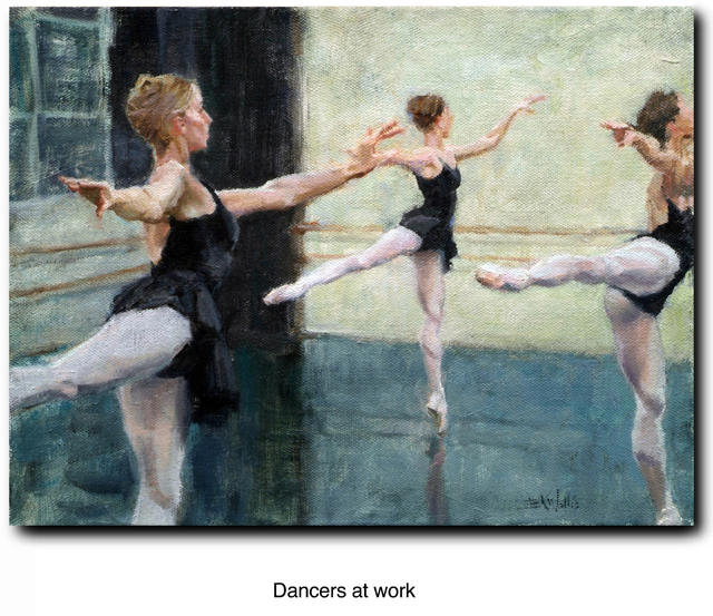 Dancers at work by Eric Wallis