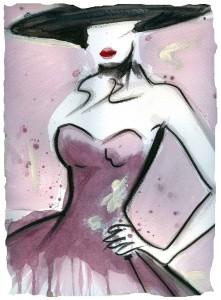 pittura con vino rosso su carta Amalfi by Miki Degni